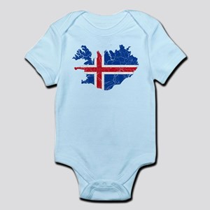 Iceland Flag And Map Infant Bodysuit