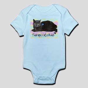 """Therapy Cats Rule!"" Infant Creeper"