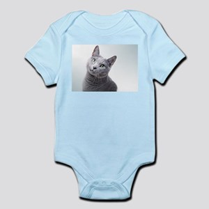 russian blue cat Body Suit