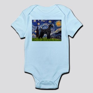 Starry Night Schnauzer Infant Bodysuit