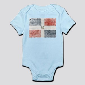 Dominican Republic Distressed Flag Body Suit