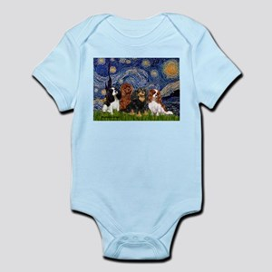 Starry / 4 Cavaliers Infant Bodysuit
