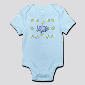 Happy Elephant Burp Body Suit