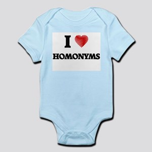 I love Homonyms Body Suit
