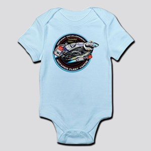 STAR TREK DS9 Logo Baby Light Bodysuit