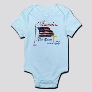 America One Nation Under God Infant Bodysuit