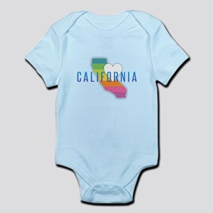 California Heart Rainbow Body Suit