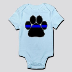 Blue Line K9 Paw Infant Bodysuit
