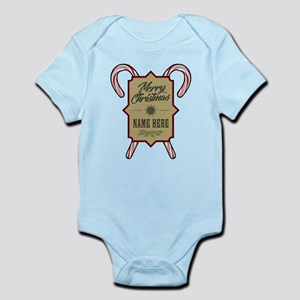 Merry Christmas Personalized Baby Light Bodysuit