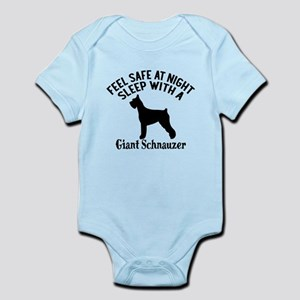 Sleep With Giant Schnauzer Dog Baby Light Bodysuit
