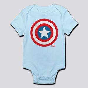 Captain America Icon Baby Light Bodysuit