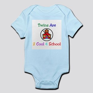 Twins are 2 Cool 4 School Infant Creeper