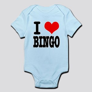 I Heart (Love) Bingo Infant Bodysuit