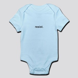 resist - Black Text Infant Bodysuit