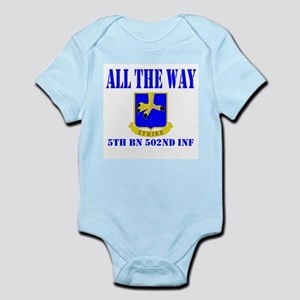 All The Way 5th Bn 502nd Inf Infant Bodysuit