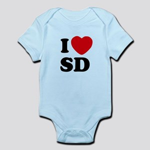 I Heart SD San Diego Infant Bodysuit
