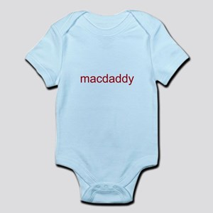 macdaddy red Infant Bodysuit