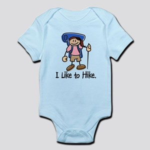 I Like To Hike Girl (Blue) Infant Bodysuit