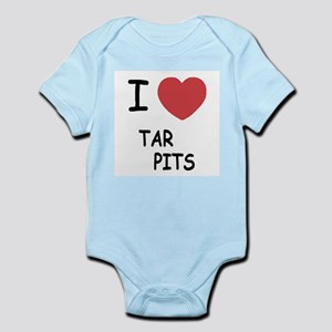 I heart tar pits Infant Bodysuit