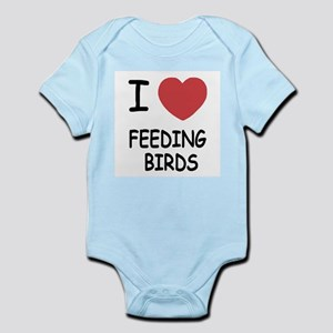 I heart feeding birds Infant Bodysuit