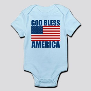 God Bless America Infant Bodysuit