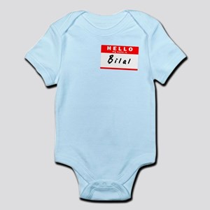 Bilal, Name Tag Sticker Infant Bodysuit