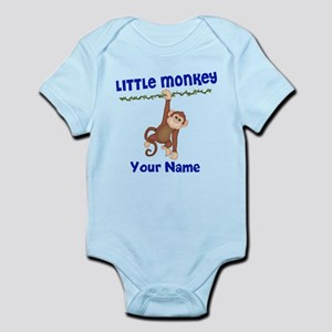Monkey Boy Kids Personalized Infant Bodysuit