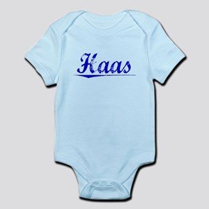 Haas, Blue, Aged Infant Bodysuit
