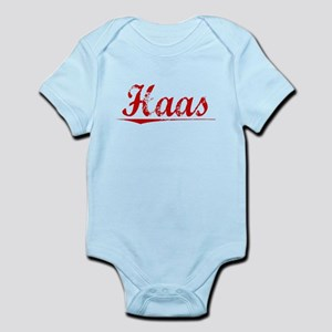 Haas, Vintage Red Infant Bodysuit