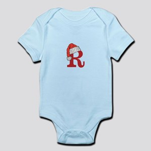 Letter R Christmas Monogram Body Suit