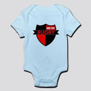 Rugby Shield Black Red Body Suit