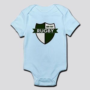Rugby Shield White Green Infant Bodysuit
