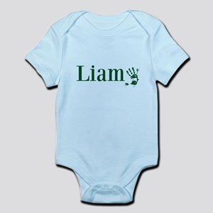 Green Liam Name Body Suit