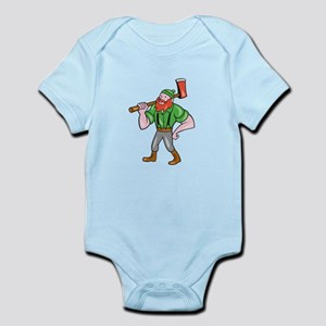 Paul Bunyan LumberJack Isolated Cartoon Body Suit