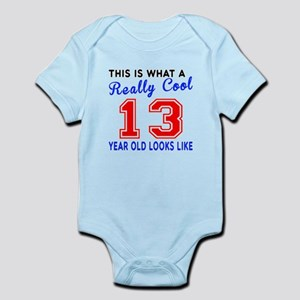 Really Cool 13 Birthday Designs Infant Bodysuit