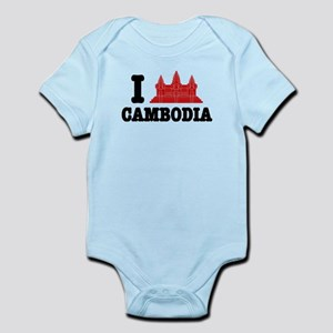 I Angkor (Love) Cambodia Infant Bodysuit
