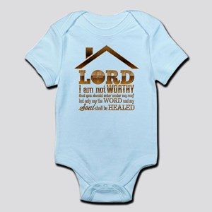 Lord I Am Not Worthy Infant Bodysuit