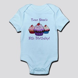 fcf246b58f CUSTOM Your Names Nth Birthday! Cupcakes Body Suit