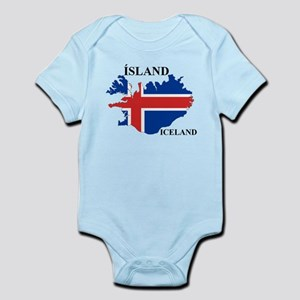IcelandFlagMap Body Suit