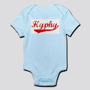 Red Vintage Hyphy Infant Creeper
