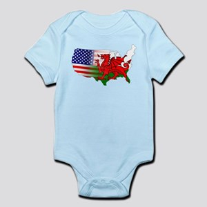 American Welsh Map Infant Bodysuit