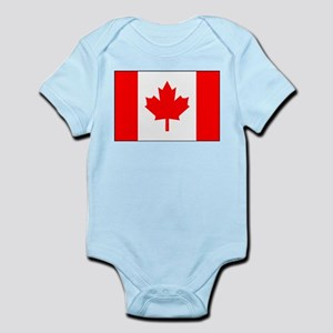 Canadian Flag 4 Infant Bodysuit