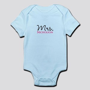 Customizable Name Mrs Baby Light Bodysuit