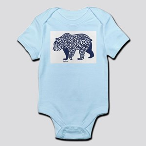 Bear Knotwork Blue Body Suit