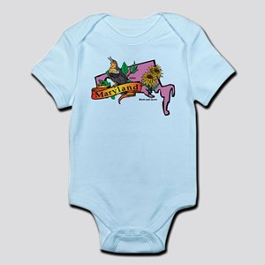 Maryland Map Infant Bodysuit