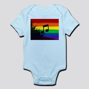 Musical note gay rainbow art Body Suit