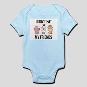 3843e6874 I Don't Eat My Friends - Vegan / Veg Body Suit