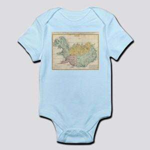 Vintage Map of Iceland (1761) Body Suit
