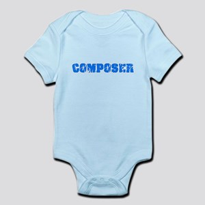 Composer Blue Bold Design Body Suit