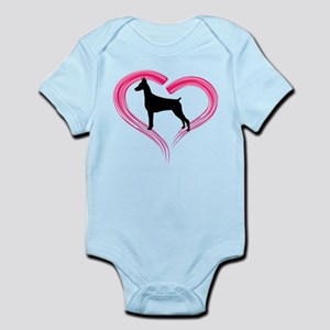Heart My Doberman Infant Bodysuit